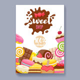 Assorted Sweets Colorful Background. Royalty Free Stock Image