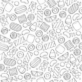 Assorted sweets seamless pattern. Royalty Free Stock Image
