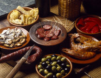 Assorted tapas Stock Images