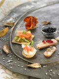 Assorted tapas Royalty Free Stock Photo
