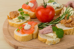 Assorted tapas Royalty Free Stock Images