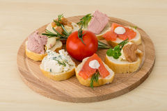 Assorted tapas Stock Photography