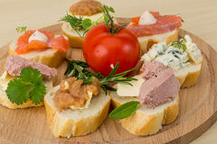 Assorted tapas Royalty Free Stock Photography