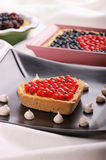 Assorted tarts with berries Stock Image