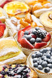 Assorted tarts and pastries Royalty Free Stock Photography