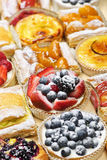 Assorted tarts and pastries Royalty Free Stock Photos