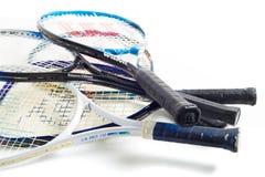 Assorted tennis racket stock photography