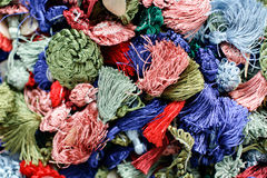 Assorted threads background Royalty Free Stock Photography