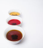 assorted three teas Stock Photo