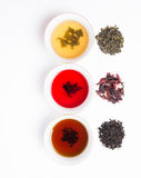 assorted three teas Stock Photos