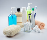 Assorted toiletries Royalty Free Stock Photos