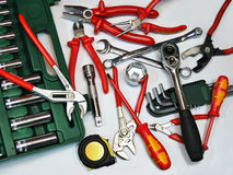 Assorted tools. On white background Royalty Free Stock Photos