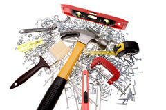 Assorted tools Stock Photos