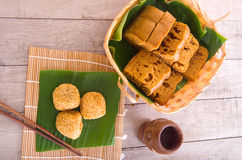 Assorted Tradisional malaysia cakes and deserts Royalty Free Stock Photography
