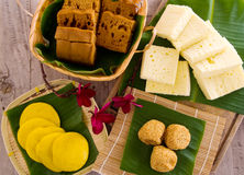 Assorted Tradisional malaysia cakes and deserts Royalty Free Stock Images