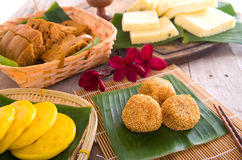 Assorted Tradisional malaysia cakes and deserts Stock Image