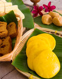 Assorted Tradisional malaysia cakes and deserts Royalty Free Stock Photo