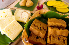 Assorted Tradisional malaysia cakes and deserts Stock Images