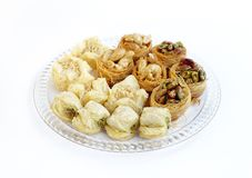 Assorted  traditional Arabic sweets Baklava Stock Images