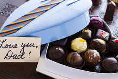 Assorted truffles Stock Images