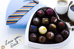 Assorted truffles Stock Photo
