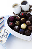 Assorted truffles Stock Photography