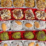 Assorted Turkish Delight bars Royalty Free Stock Images