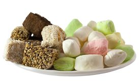 Assorted Turkish Delight Lokum and parvarda Stock Photography