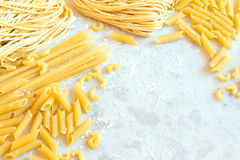 Assorted Uncooked Pasta Royalty Free Stock Image