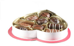 Assorted Valentine chocolate. Isolated valentine chocolate Royalty Free Stock Image