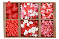 Assorted valentines candy in a box Royalty Free Stock Image