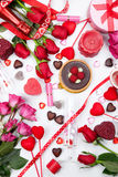 Assorted Valentines Gifts and Treats Stock Photos