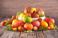 Assorted variety of tomato Stock Images