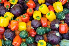 Assorted vegetable background Stock Photos