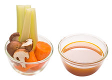 Assorted vegetable and stock isolated Royalty Free Stock Photography