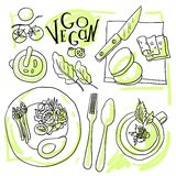 Assorted vegetable vector illustration Stock Photography