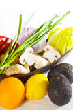 Assorted vegetables and fruits Royalty Free Stock Photography