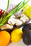 Assorted vegetables and fruits Royalty Free Stock Photos