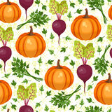 Assorted vegetables seamless pattern Royalty Free Stock Photography