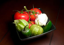 Assorted Veggies. Assorted Vegetables in Square Bowl Royalty Free Stock Photography