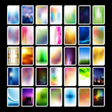Assorted Vertical Business Card Backgrounds Stock Photos