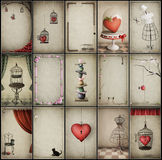 Assorted vintage backgrounds Stock Photos