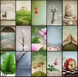 Assorted vintage backgrounds Royalty Free Stock Photos