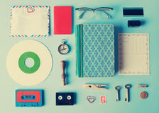 Assorted vintage items Royalty Free Stock Images
