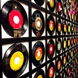 Assorted Vinyl Record Lot Stock Image