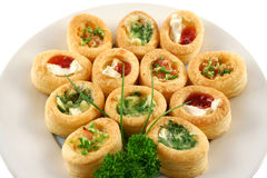 Assorted Vol Au Vonts Royalty Free Stock Photos