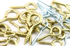 Assorted wall hooks Royalty Free Stock Images