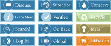 Assorted Web Site Buttons Royalty Free Stock Photos