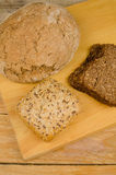 Assorted whole wheat bread Stock Photo