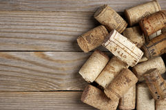 Assorted wine corks Stock Photo